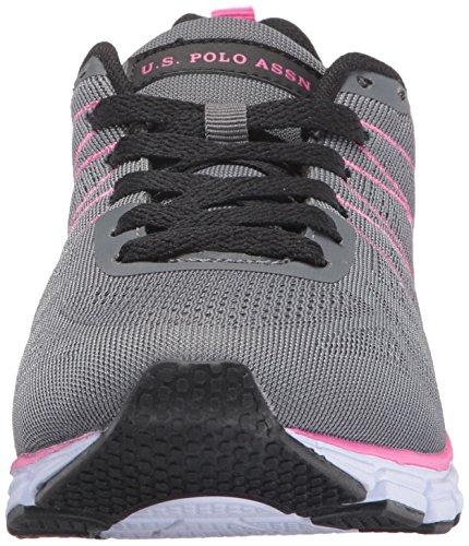 Oss Polo Assn. (womens) Womens Joan-e Mote Sneaker Mørkegrå / Fuchsia ...