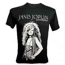 Lectro Men's Janis Joplin Anthology Vocalists Rock 60s T-Shirt