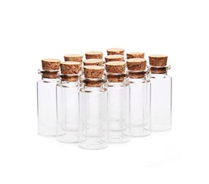 9eb5a4e33c1 24PCS Glass Wish Bottles With Corks Stopper-Small Mini Glass Bottle Jars  Message Weddings Wish