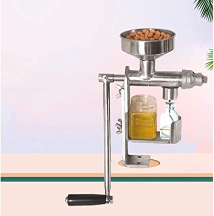 YWAWJ Manual de acero inoxidable prensa de aceite de petróleo y Prensa feliz prensa de aceite de aceite de oliva de la semilla de bricolaje de aptitud física saludable aceite de cacahuete