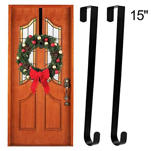 - ESFUN Wreath Hanger Over The Door Hooks - 15