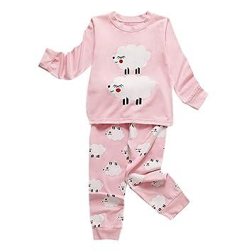 Gray,3-4 Years Infant Baby Girl Christmas Pyjamas Set 2 Pieces,Toddler Kids Cute Train Suit Pajama Sleepwear for 1-6 Years Old