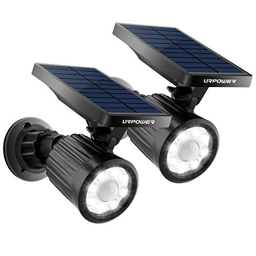 URPOWER Solar Lights Outdoor, 4th Generation Solar Spotlight