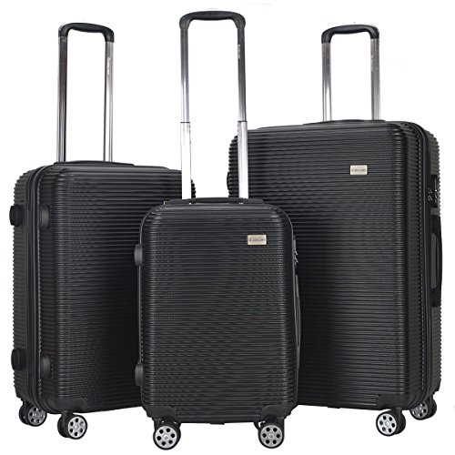 Goplus 3 Piece Set Luggage GLOBALWAY Hardshell Travel Carry