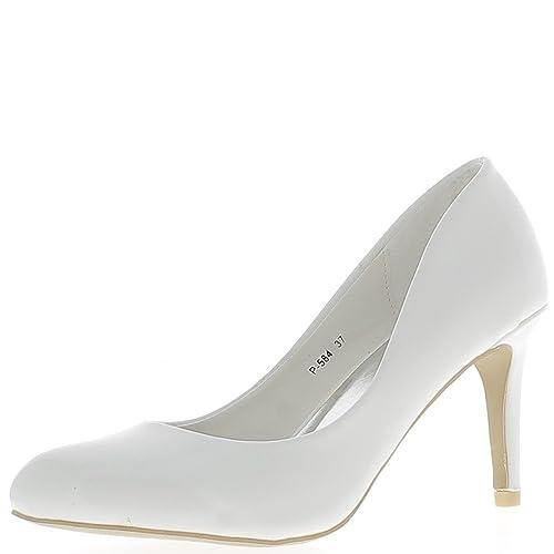 a prezzi ragionevoli piuttosto fico nuova collezione Scarpe Bianche Smalto Tacchi Sottili di 8,5 cm Round termina - 40 ...