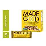 MadeGood Chocolate Banana Granola Bars, 6 pack (36 bars); Contain Nutrients of a Full Serving of Vegetables; Gluten Free Oats, Rich Dark Chocolate and Ripe Banana Form Chewy, Organic School-Safe Snack
