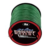 Warknife 4 Stands Super Strong Braided Fishing Line Tensile Strength 500Meters/546.8Yards 60LB Moss Green