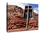 Temple in the Rock - Sedona (24x24 Canvas) Architecture Canvas 24x24