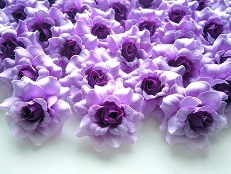 Buy 100 Silk Purple Roses Flower Head 1 75 Artificial Flowers