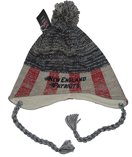 beb72ad1e New England Patriots Abomination Knit Hats. Reebok New England Patriots NFL  Team Apparel Vintage Collection Tassel Ball Top Sweater Knit Beanie .