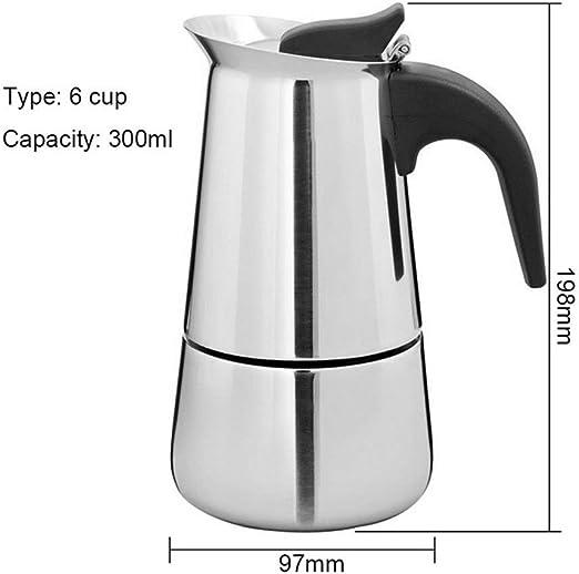 100ml / 200ml / 300ml / 450ml Pro portátil Barista Pot Cafetera espresso Cafetera Moka Pot Cafetera de acero inoxidable Cafetera Kettle Pot (Color : 300ml): Amazon.es: Hogar