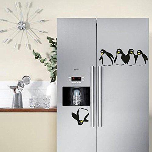 LOESHD Vinilo Decorativo Divertido pingüino Cocina Nevera Pegatina ...