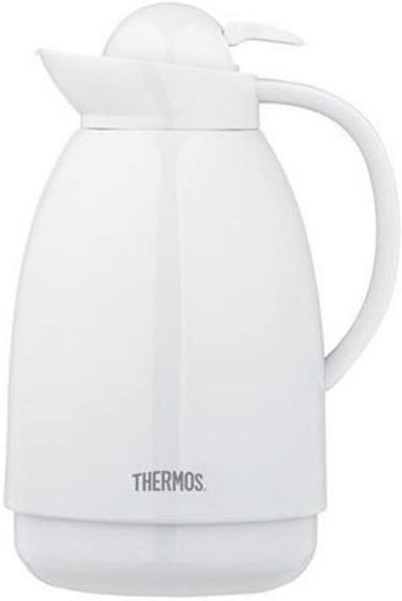 Thermos 34OZ WHT Glass Carafe, Pack of 1