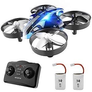 ATOYX Jouets d'intérieur Drone Enfant Hélicoptère Télécommandé Quadcopter avec Mode sans Tête Avion Mini avec…
