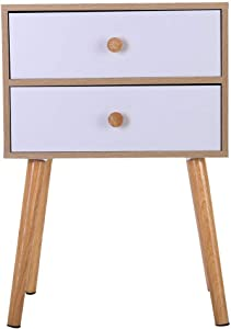 ChainSee North American Modern Minimalist Bedside Cabinet, Durable Besides Storage Table with Solid Wood Legs, Modern Simple Cute Stylish Bed Table, Delicate Home Decoration Storage Table (Yellow)