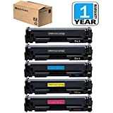 201X Toner Set of 5 Pack Compatible for CF400X CF401X CF402X CF403X Toner Cartridge, use in HP Color LaserJet M252 Pro M252 M252DW Pro M252DW, M277 M277DW Pro MFP M277 Pro MFP M277DW, Sirensky