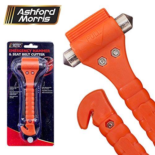 Tool Tech - Martelletto d'emergenza e taglierino per cintura di sicurezza Benross Marketing Ltd 10730