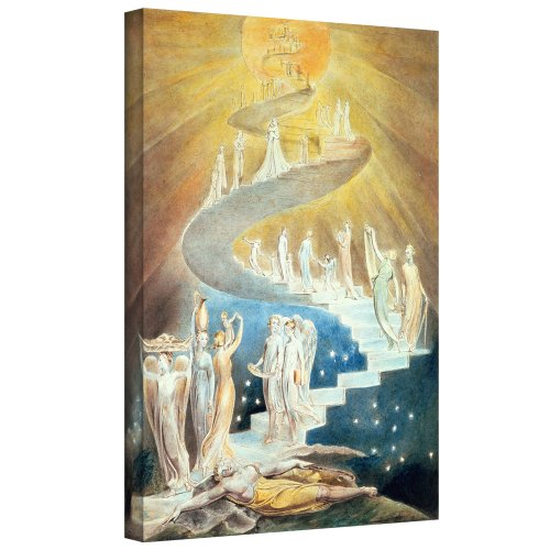 ArtWall William Blake 'Jacob's Ladder ' Gallery-Wrapped Canvas Art, 36 by 48-Inch