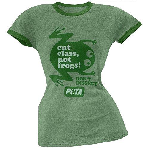 Tasty Animals Eating People (PETA - Cut Class Soft Juniors Ringer T-Shirt - Medium)