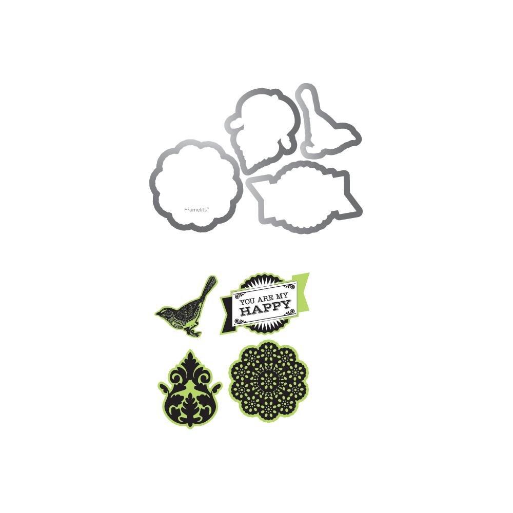 Sizzix Sizzix Sizzix Framelits Dies 4 Pkg With Clear Stamps By Echo Park-For The Record 2; Doc B00CB387V8 | Sehr gelobt und vom Publikum der Verbraucher geschätzt  | Überlegene Qualität  | Feine Verarbeitung  374572