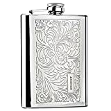 Panda Superstore [Floral] Creative Hiking/Camping Stainless Steel Hip Flask, 8oz