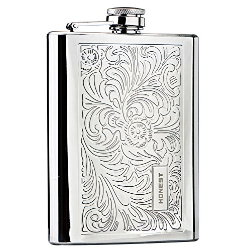Panda Superstore [Floral] Creative Hiking/Camping Stainless Steel Hip Flask, 8oz by Panda Superstore