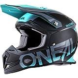 O'Neal 5 SRS Mens Off-Road Blocker Helmet (Black/Teal, Medium)