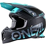 O'Neal 5 SRS Mens Off-Road Blocker Helmet (Black/Teal, XX-Large)