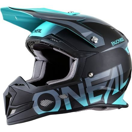 5 Off Road Helmet (O'Neal 5 SRS Mens Off-Road Blocker Helmet (Black/Teal, Small))