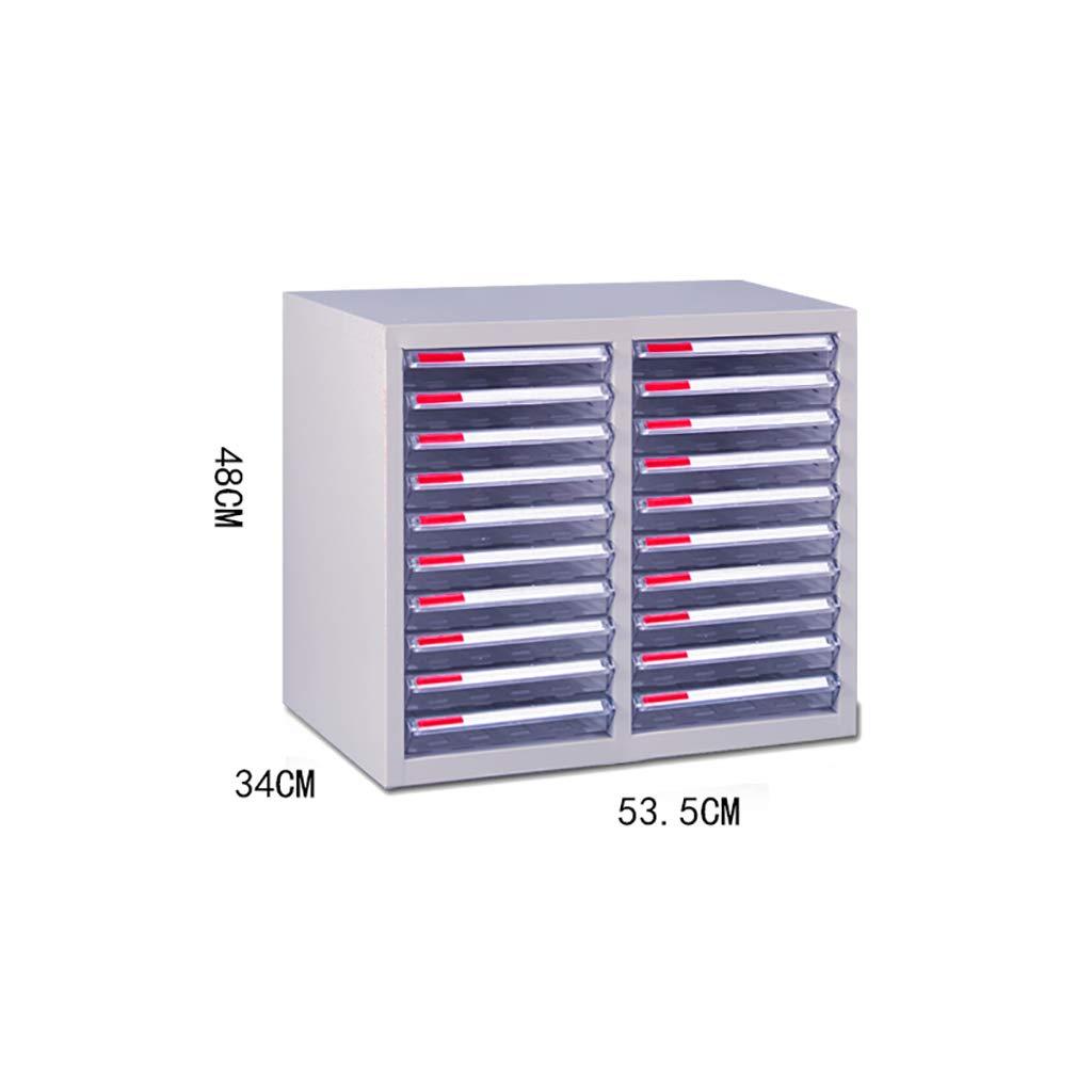 File Cabinet, Desktop Extended Drawer Office Organizer (Steel Plate) 53.53448CM (Size : 20)