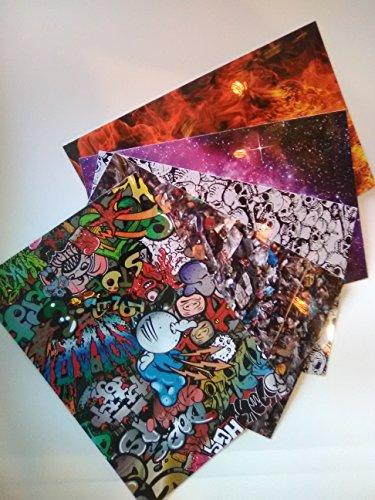 Printed Guitar Pick Picks - Skulls Fire Graffiti Trash Space Printed Plastic for making guitar picks 0.80mm