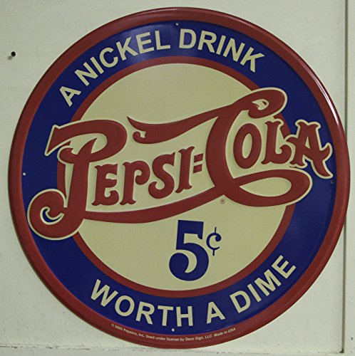 Pepsi Cola Metal Sign large 24