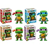 Funko PoP Teenage Mutant Ninja Turtles Figure Set Of 4 - Raphael, Leonardo, Donatello, Michelangelo