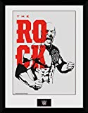 Wrestling Framed Collector Poster - WWE, The Rock (16 x 12 inches)