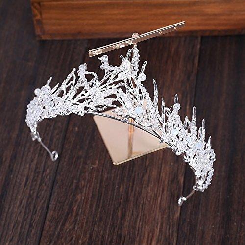 - usongs 2018 bride crown headdress hair accessories princess wedding Crown crystal beaded wedding dress accessories in Europe and America