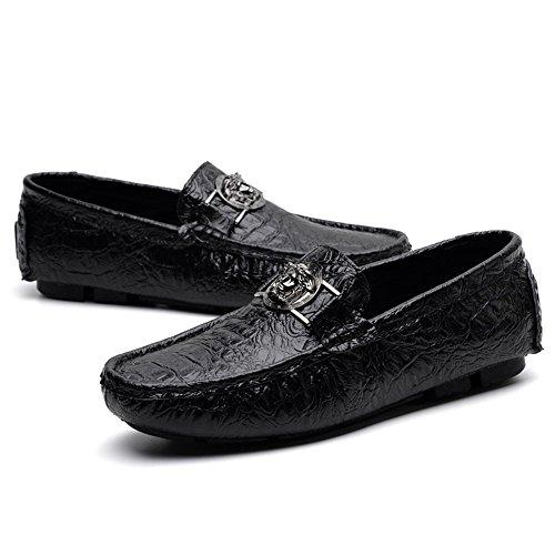 Patrón Color Zapatos 40 Conductor Zapatos de de 2018 cocodrilo Loafer Mocasines Mocasines EU para los de Verde Hombre Shufang Negocios impresión Casuales shoes tamaño Negro Hombres Ocio nC51xU6nY