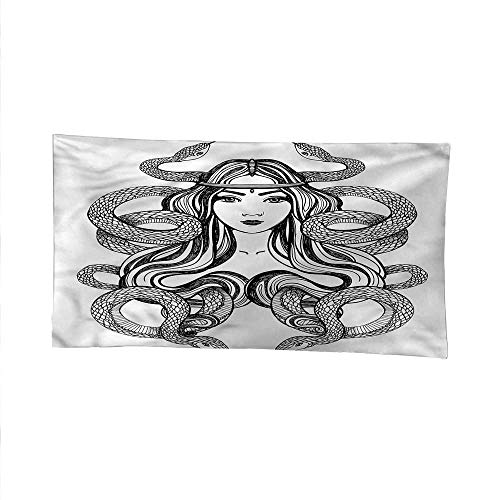 Occultoutdoor tapestryceiling tapestryExotic Lady with Snakes Muse 84W x 70L Inch