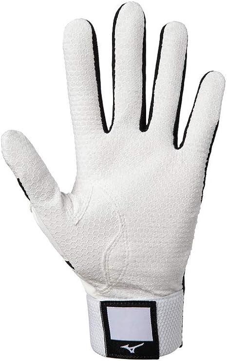 White//Red Extra Large Mizuno MVP Baseball Softball Batting Gloves Adult XL