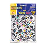 Chenille Kraft Wiggle Eyes including Painted Lids - Pack of 1000 - Assorted Colors and Sizes