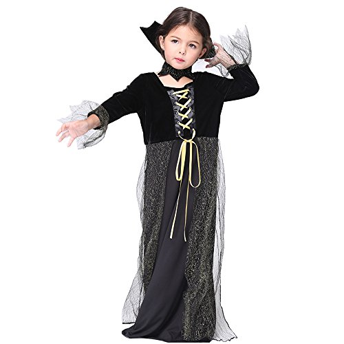 Drizzle Girl Costume Halloween costume Fairytale Cosplay Dress Up for Kids(Ages 3-11) (Large, Vampire2)