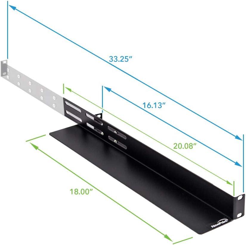 Amazon Com Navepoint 1u Rack Mount 4 Post Shelf Rail For Rackmount Tower Server 33 5 Inches Deep Electronics