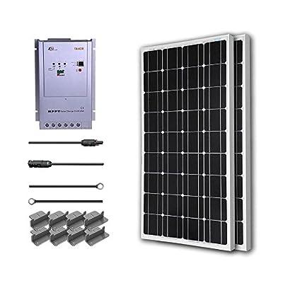 Renogy 200 Watt 12 Volt Monocrystalline Solar Starter Kit w/ 40A MPPT Charge Controller