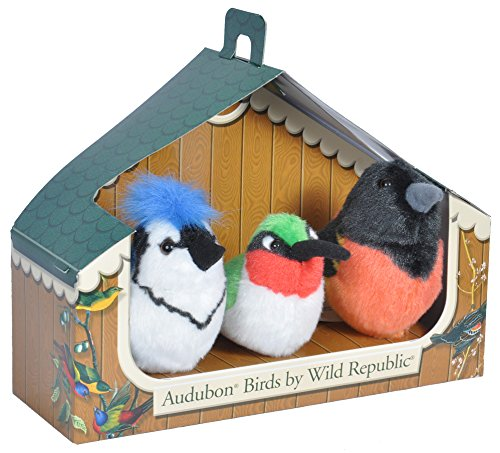 (Wild Republic Audubon Birds Collection with Authentic Bird Sounds, Hummingbird, Blue Jay and Baltimore Oriole, Bird Toys for Kids and bird watchers)