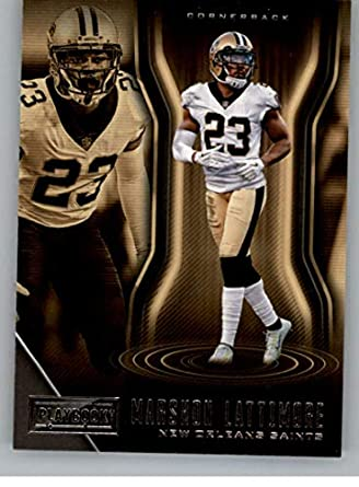 2018 Panini Playbook  79 Marshon Lattimore New Orleans Saints NFL Football  Trading Card 68c7b0f9e