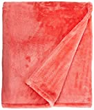 Northpoint Cashmere Plush Velvet Throw, Coral (Renewed)