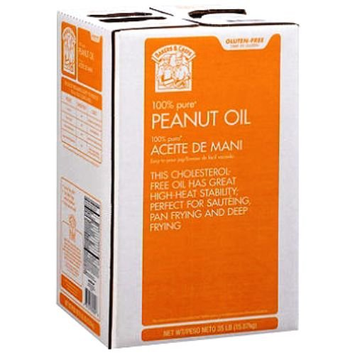 Bakers and Chefs 100% Peanut Oil, 35 Pound (Best Peanut Oil For Turkey Frying)