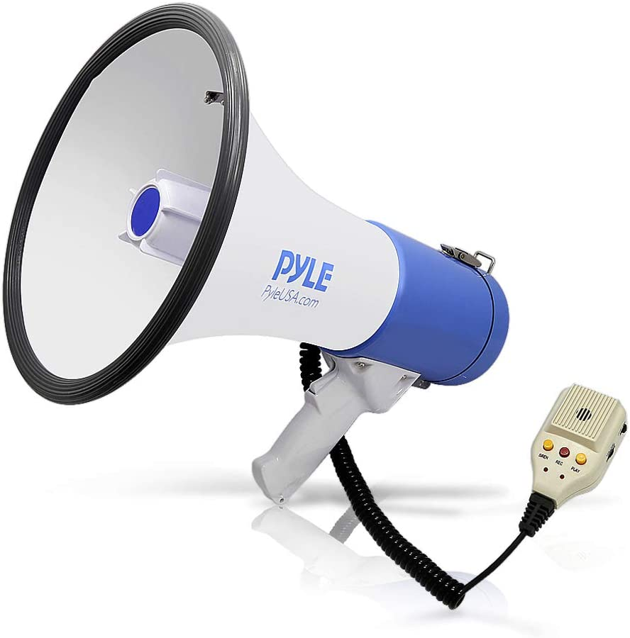 Voice Recorder and Adjustable Volume Basketball Baseball BEMLDY Mini Portable Megaphone Bullhorn with Siren Handheld Mic Toy,Ideal for Fans Cheering of Football Soccer Hockey