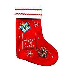 weimay 1par Calcetines Navidad de colgar sobres regalo Navidad de colgar All 'árbol de Navidad Decoración
