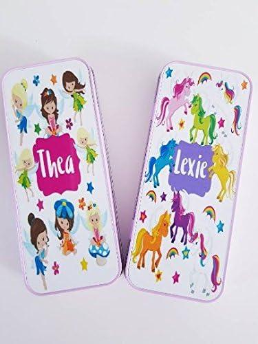 Estuche personalizado de unicornio, estuche personalizado para lápices de hadas, estuche personalizado para lápices de niños, estuche de unicornio, estuche de estuche: Amazon.es: Oficina y papelería