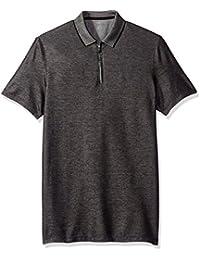 Calvin Klein Men's Short Sleeve Two Tone Pique Polo Shirt